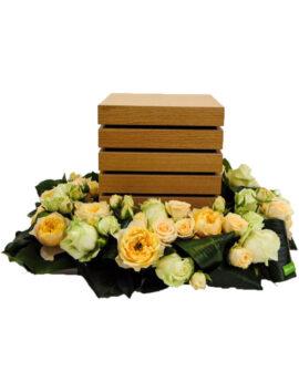 Urne bloemstuk - vierkant